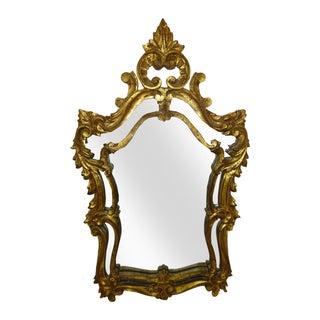 Italian Gilt Carved Louis XV Mirror