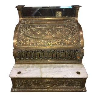 19th Century Antique Brass National Cash Register