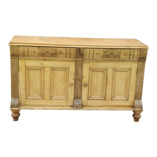 Antique English Pine Sideboard
