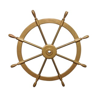 Solid Brass Boats Steering Wheel