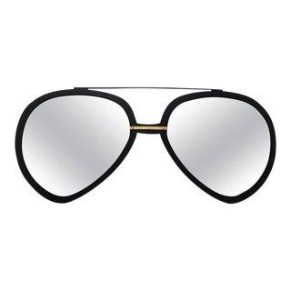 Huge Pair of Aviator Sunglasses Mirror in Matte Black