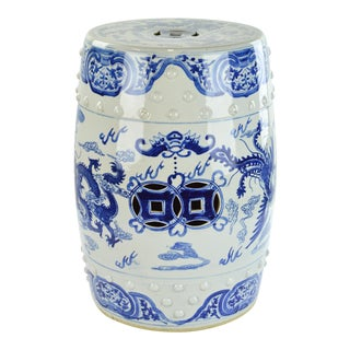 Blue and White Chinese Garden Seat