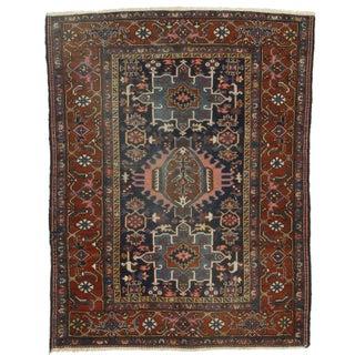 "RugsinDallas Antique Persian Karajeh Wool Rug - 4'9"" X 6'3"""