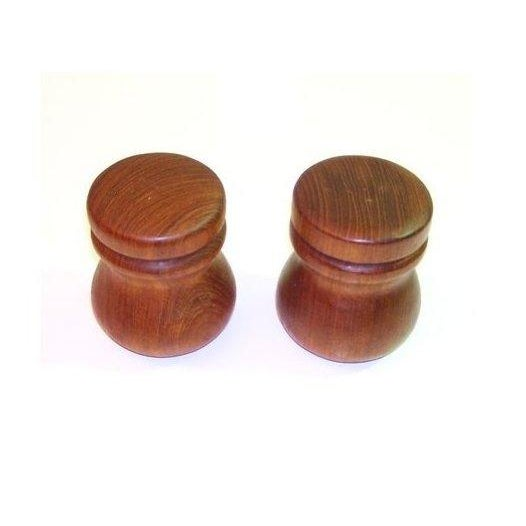 Teak Salt and Pepper Shakers - Pair - Image 2 of 3