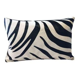 Custom Genuine Down Feather Zebra Hide Accent Pillow