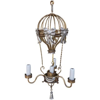 Gilt Metal Balloon Chandelier