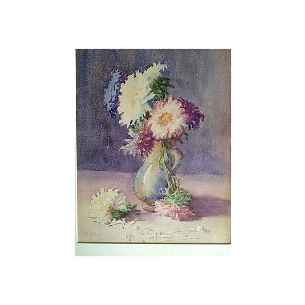Image of Bouquet of Zinnias Watercolor 1915