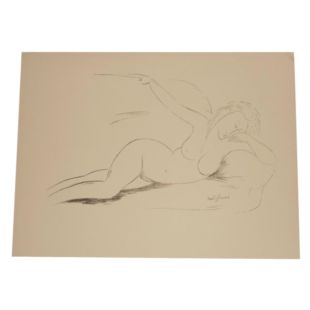 Image of Vintage Silkscreen Nude Modigliani Folio Size