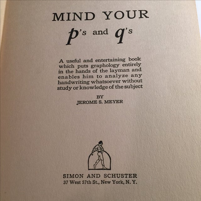 Image of Mind Your Ps and Qs, 1928