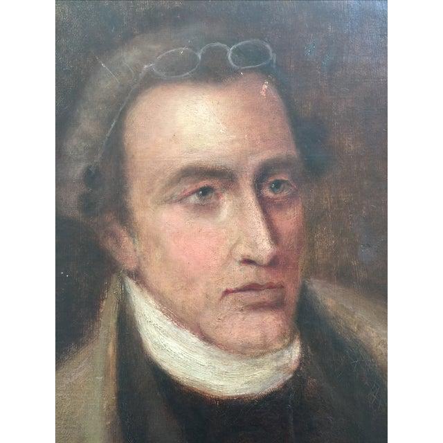 Vintage Oil Portrait Painting of a Gentleman - Image 4 of 4