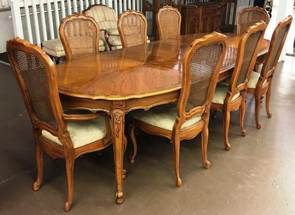 Vintage Thomasville French Court Dining Table U0026 Chairs   Set Of 9   Image 2  Of Part 20