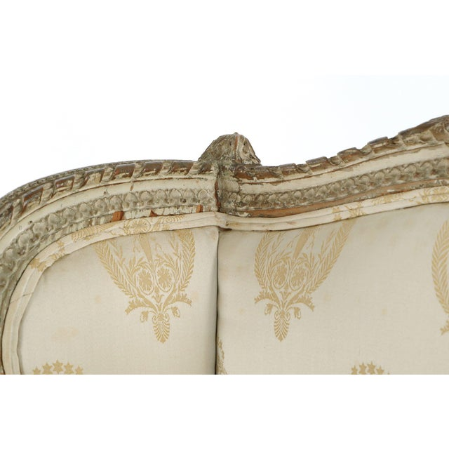 French Louis XVI Distressed Wingback Armchair - Image 5 of 11