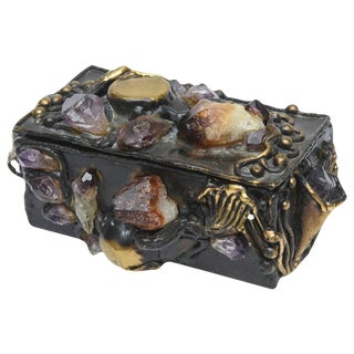 Brutalist Small Jeweled Sculptural Box