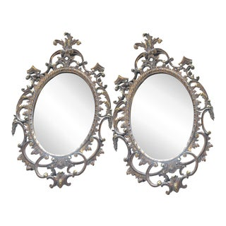John Nelson Italian Giltwood Carved Mirrors - Pair