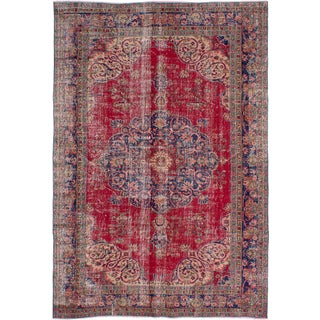 "Vintage Turkish Anadol Rug - 6'11"" x 10'1"""