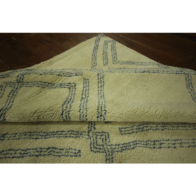 Diamond Moroccan Hand Knotted Rug - 10' x 13' - Image 9 of 10