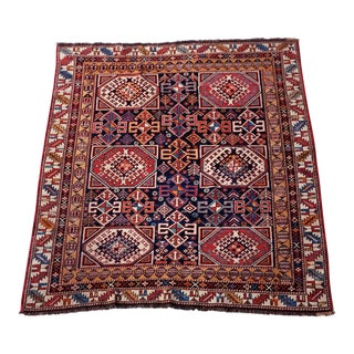 Antique Caucasian Shirvan Square Rug - 3′10″ × 4′10″
