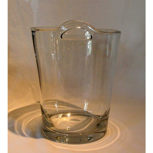 Italian Glass Handle Champagne Cooler - Image 3 of 5