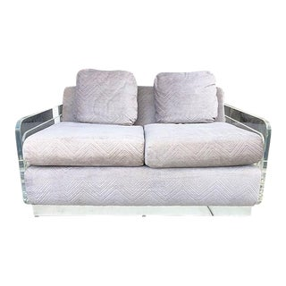 1970's Lucite Sofa With Chrome Platform