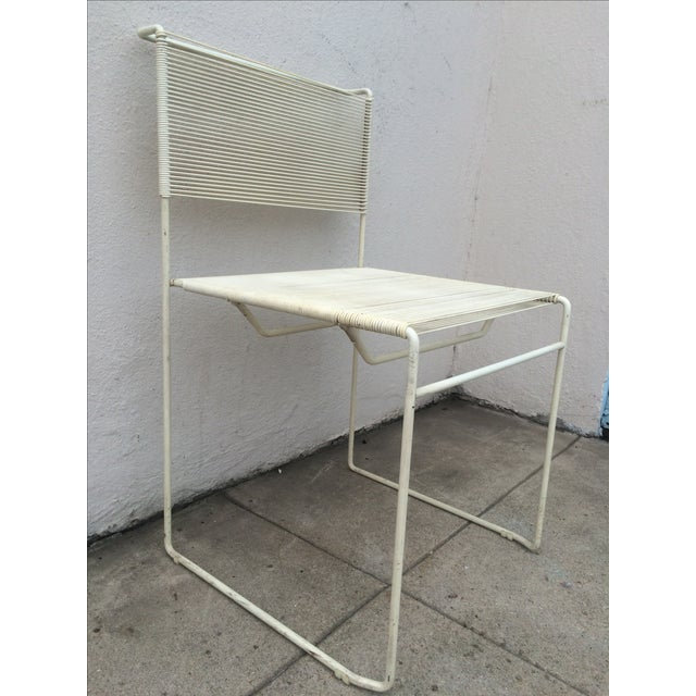 Mid-Century Fly Line Spaghetti Chairs - Set of 4 - Image 3 of 6