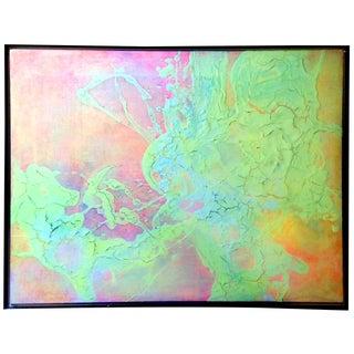 1970 Neon Abstract Mixed Media