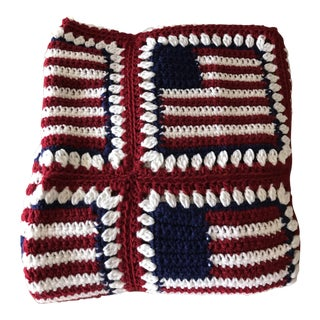 "American Flag Handmade Throw Blanket - 48"" x 64"""
