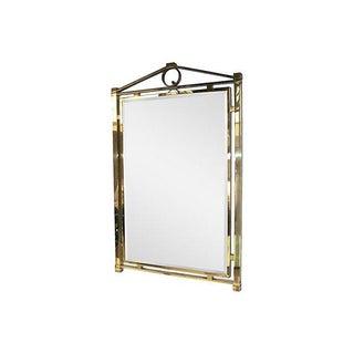 Mid-Century Brass Mirror