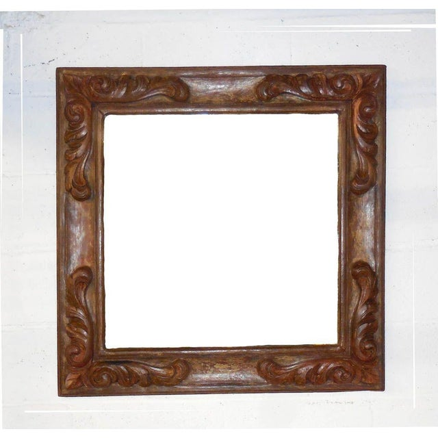 Hand-Carved Wooden Mirror - Image 2 of 6