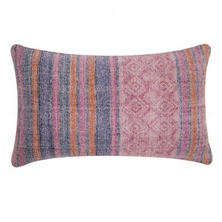 Pink Overdyed Boho Lumbar Pillow