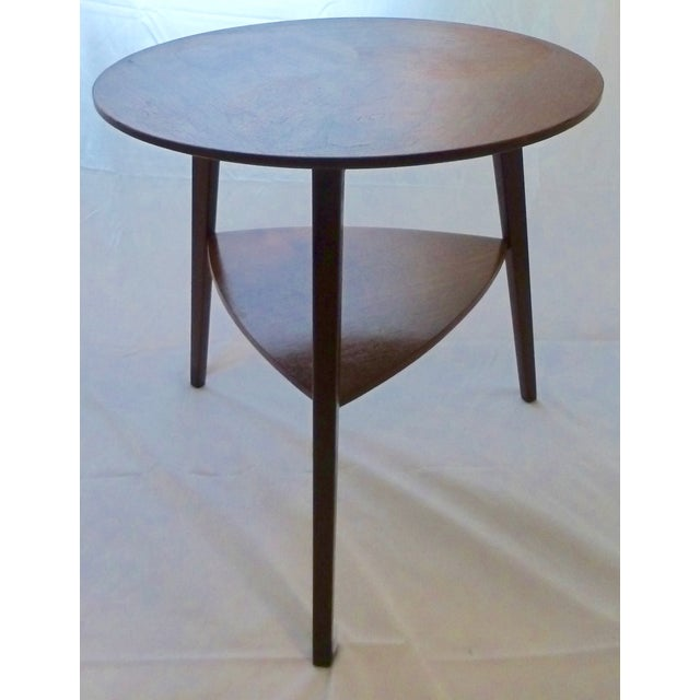 Danish Modern Peter Hdivt Style Side Table - Image 2 of 8