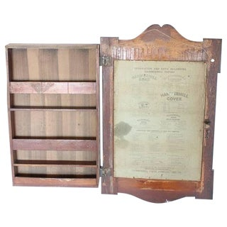 1900s American Advertising Message Board/Cabinet for Hammermill Papers Co