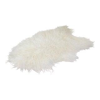 Icelandic Curly Sheepskin Shade of White Rug Throw - 4' x 6'