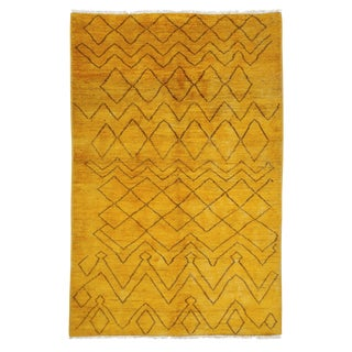 "Moroccan Hand Knotted Area Rug - 5'2"" X 7'10"""