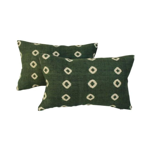 Image of Tie-Dye Woven Linen Pillows - Pair