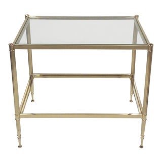 Maison Jansen Style Brass and Glass Side Table