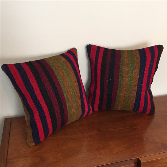 Vintage Kilim Throw Pillow (One Left, on Left) - Image 2 of 5