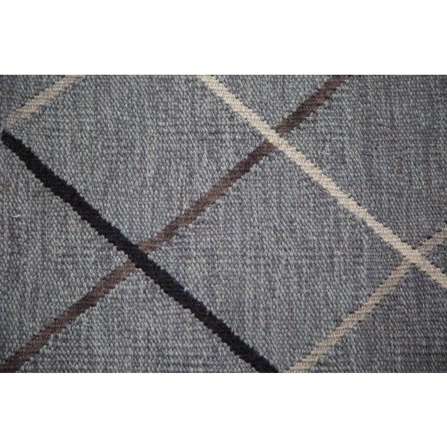 """Gray Argyle Kilim Rug - 3'8"""" x 5'4"""" - Image 5 of 6"""