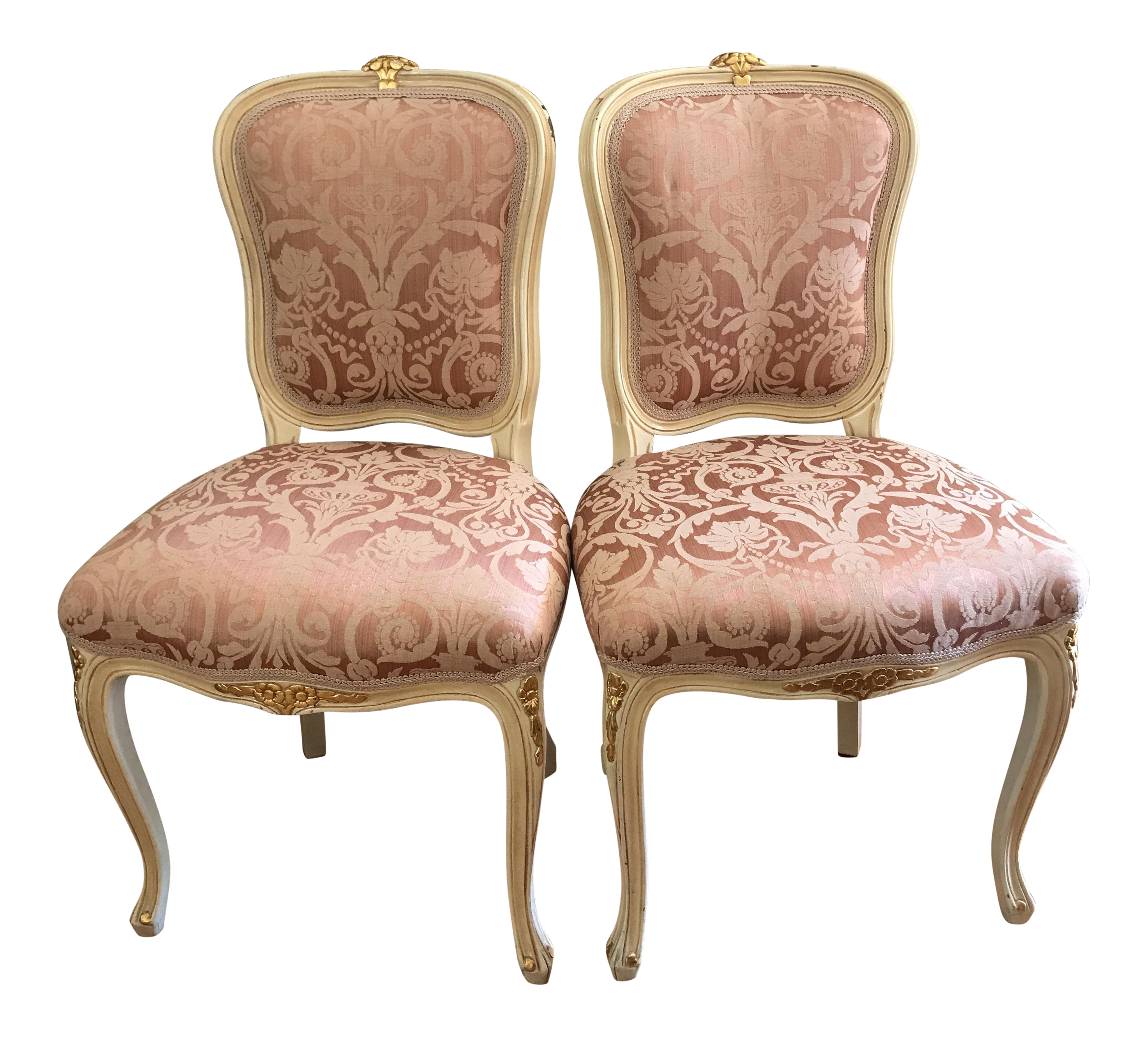 French Provincial Chairs   A Pair