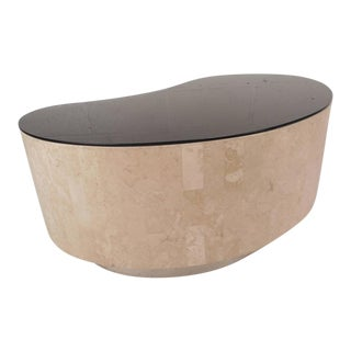 Mid-Century Modern Kidney Shaped Coffee Table by Maitland Smith