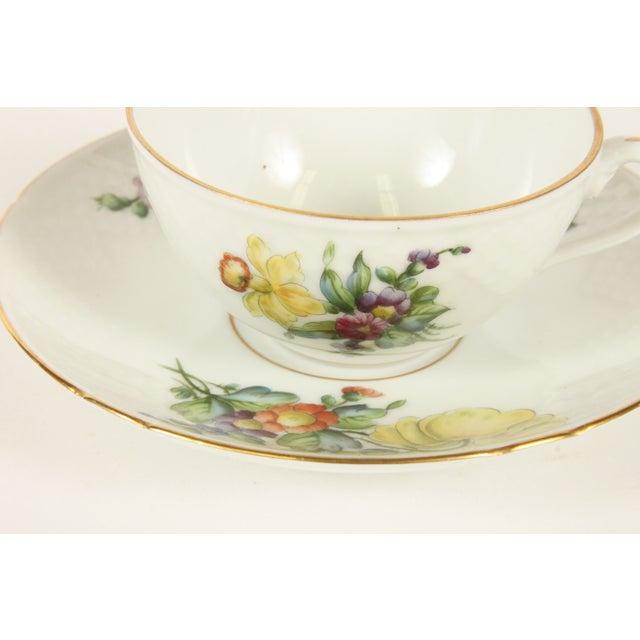 Image of Bing&Grondahl Saxon Flower Cup & Saucer - Set of 4