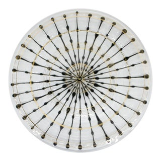 1950s Higgins Graphic Art Glass Platter
