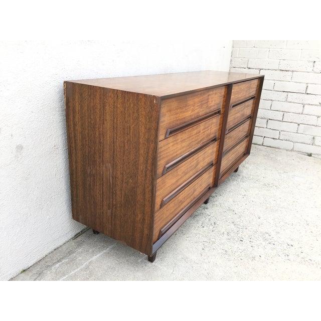 Mid-Century Walnut Wood Dresser - Image 5 of 11