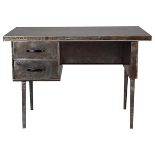French Mid Century Industrial Steel Desk