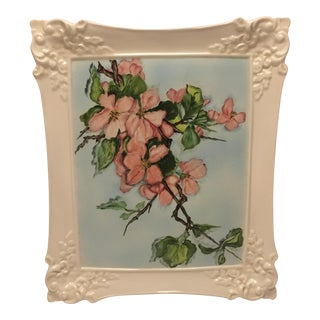 Hand Painted Ceramic Floral Wall Hanging