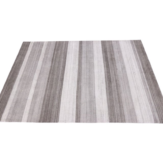 Modern-Style Gray Gabbeh Rug - 8′ × 10′ - Image 6 of 6