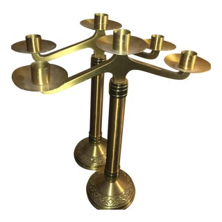 Brass Candelabra - A Pair