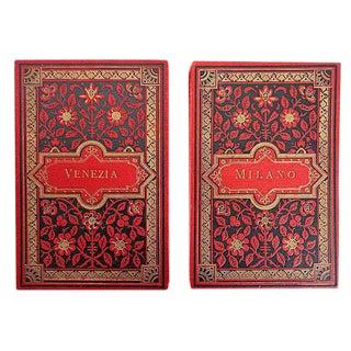 Vintage Italian Postcard Books
