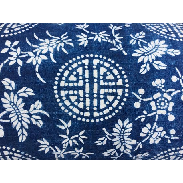 Antique Indigo Batik Pillow - Image 3 of 6