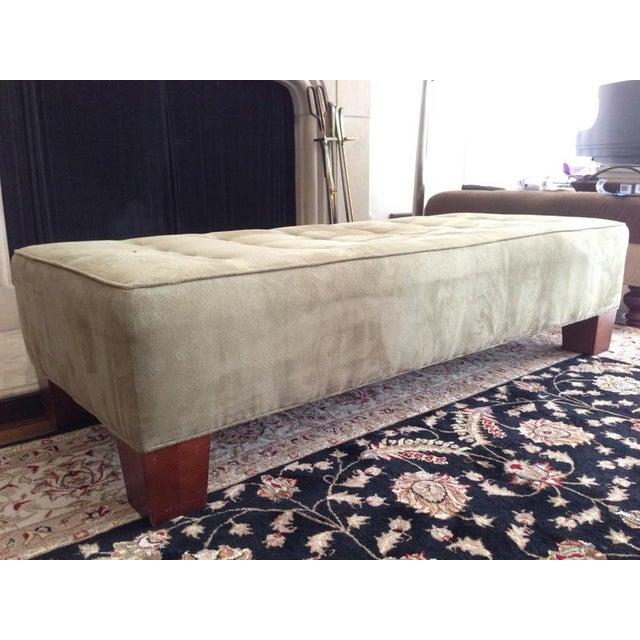 crate barrel tufted ottoman chairish. Black Bedroom Furniture Sets. Home Design Ideas