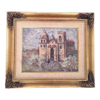 Vintage Zeitler Mission Oil Painting